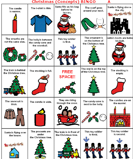 charades words for christmas