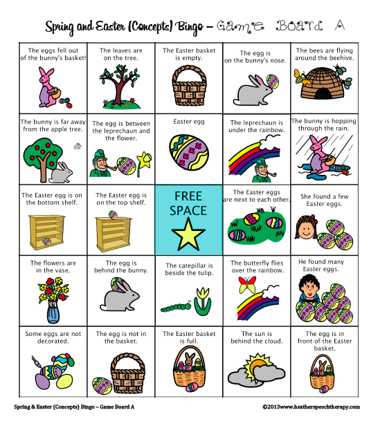 Free Spring and Easter Speech Therapy Materials – Speech Therapy Worksheets