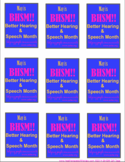 BHSM {Better Hearing and Speech Month} FREE PRINTABLES!