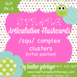 Happy Spring! Free Complex /S/ Cluster (SQU) Printable!