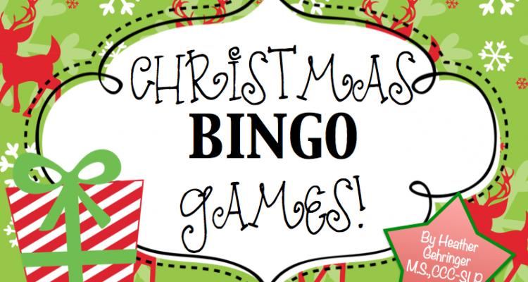 Christmas Speech Therapy BINGO Games!