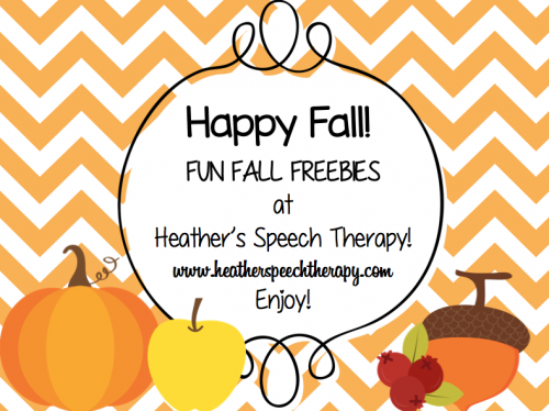 Speech Therapy Fall Worksheets and Activities – Fall Worksheets