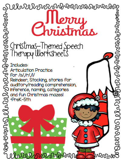 christmas speech therapy activities. Black Bedroom Furniture Sets. Home Design Ideas