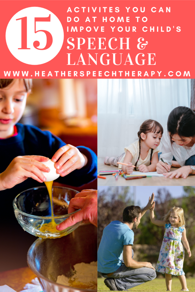 15 activities you can do at home to improve your child's speech and language skills