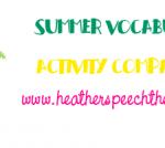Summer Vocabulary and Activity Companion!