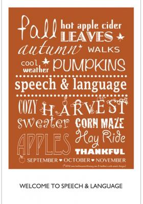 Heather's Fall Giveaway:  Speech Door Poster, App Promo Code, & Starbucks Gift Card!