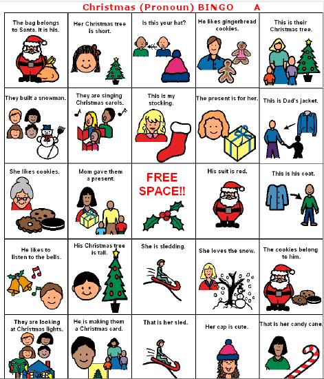 Free Worksheets irregular plural nouns worksheets : Tis the Seasonu2026for Christmas BINGO!