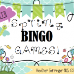 Free Speech Therapy Spring BINGO Games