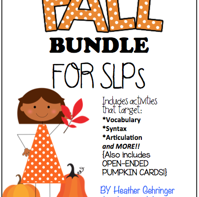 Fall Freebie for Speech Therapists