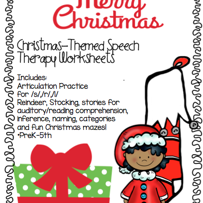 Christmas Speech Therapy Activities