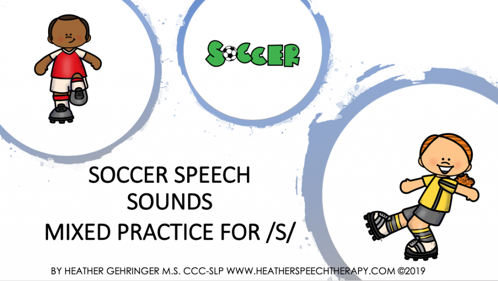 Soccer speech sounds