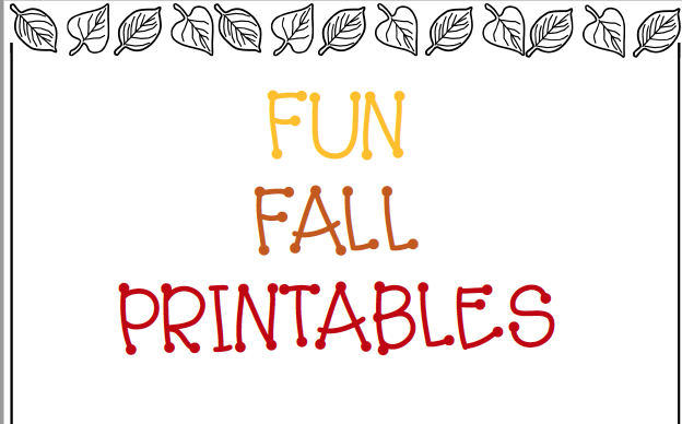 Fun Fall Printables