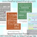 Speech Therapy Room Poster Sale!